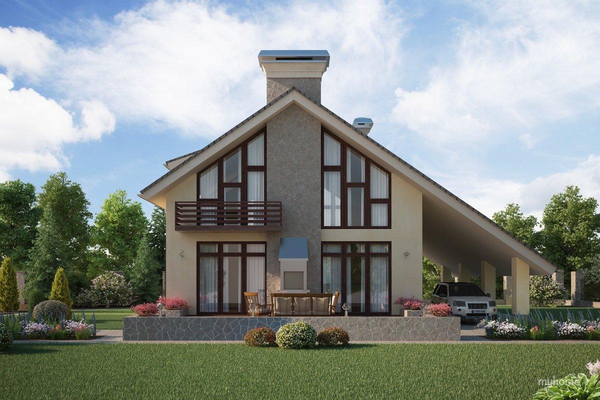Фото красивых домов и коттеджей с мансардой